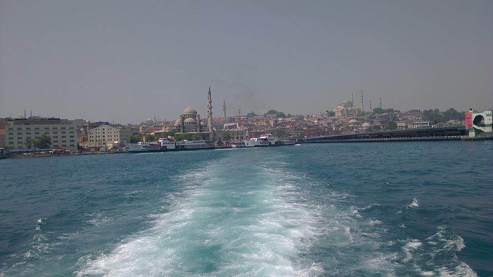 Turkey, Isanbul, Bosphorus, Sea, Water, Skyline