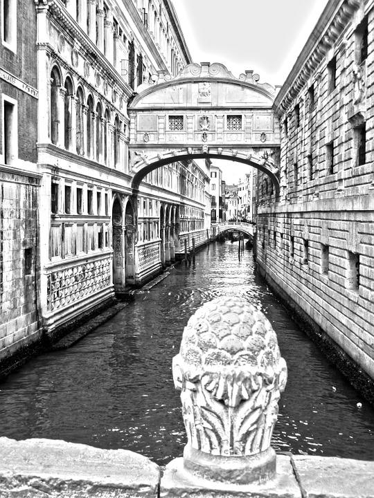 Venice, Bridge Of Sighs, Bridge, Water, Channel