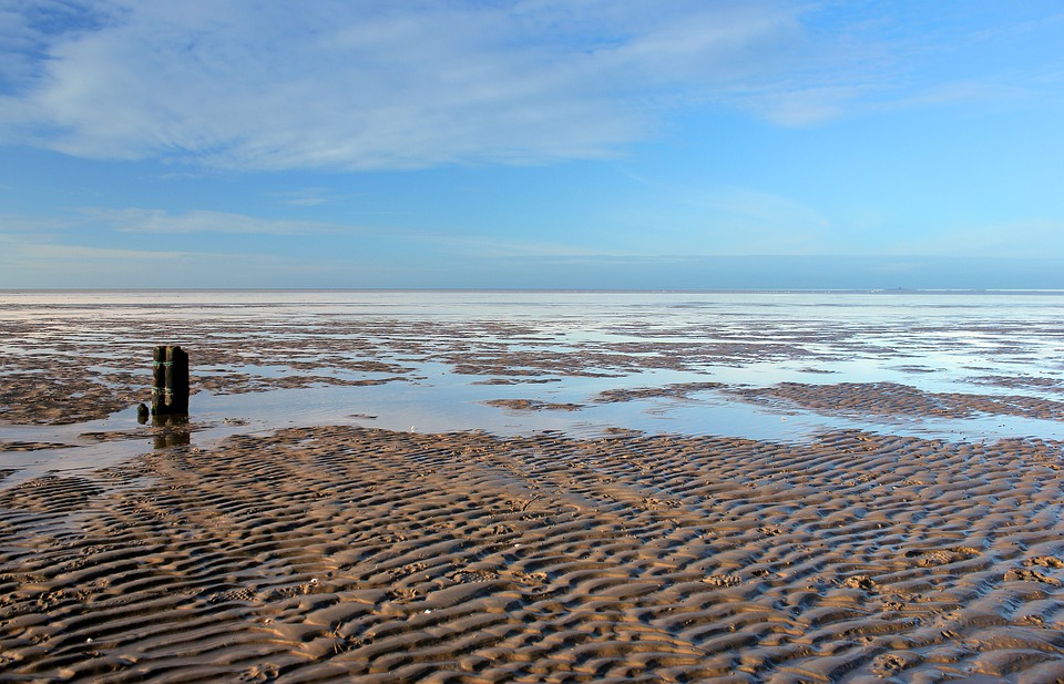 North Sea, Wadden Sea, Sea, Beach, Ebb, Sky, Water