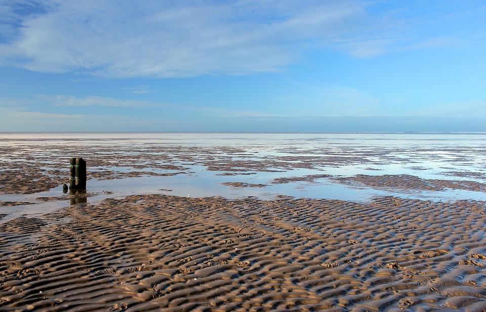 North Sea, Wadden Sea, Sea, Beach, Ebb, Sky, Water