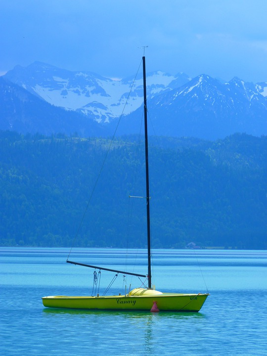 Boot, Sailing Boat, Lake, Water, Blue, Walchensee