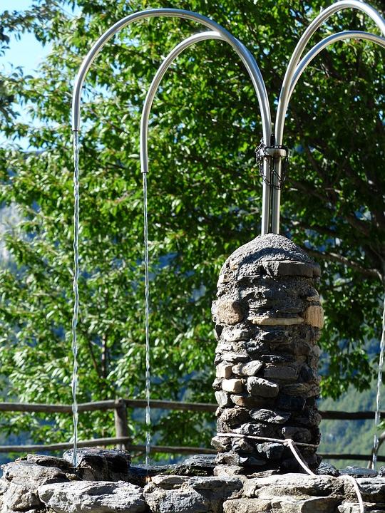 Fountain, Stone Fountain, Water, Water Dispenser, Metal