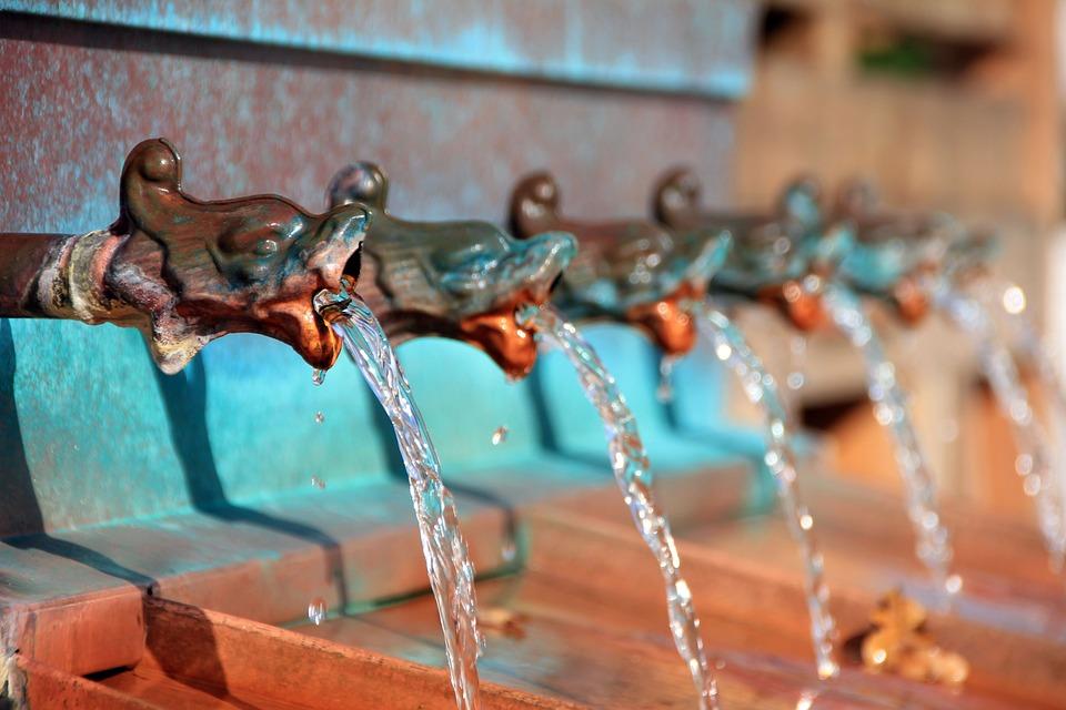 Fountain, Water Jet, Gargoyle, Water Basin, Water