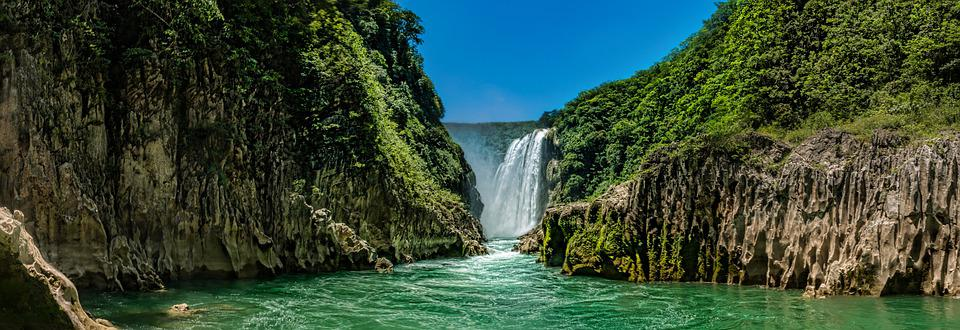 Tamul, Cascada, Huasteca, Waterfall, Power, Water