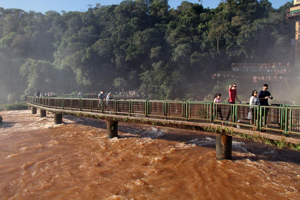 Runway, Iguazu Falls, Waterfalls, Brasil, Water, South