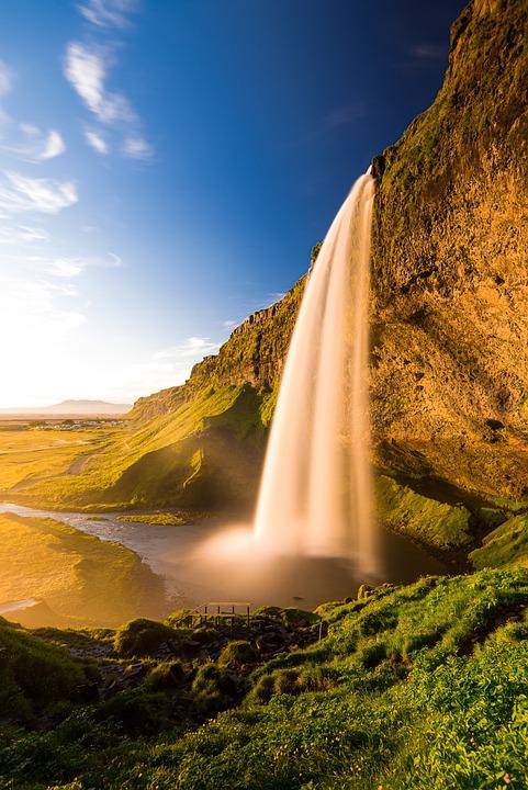 Iceland, Landscape, Water, Sky, Sun, Sunset, Waters