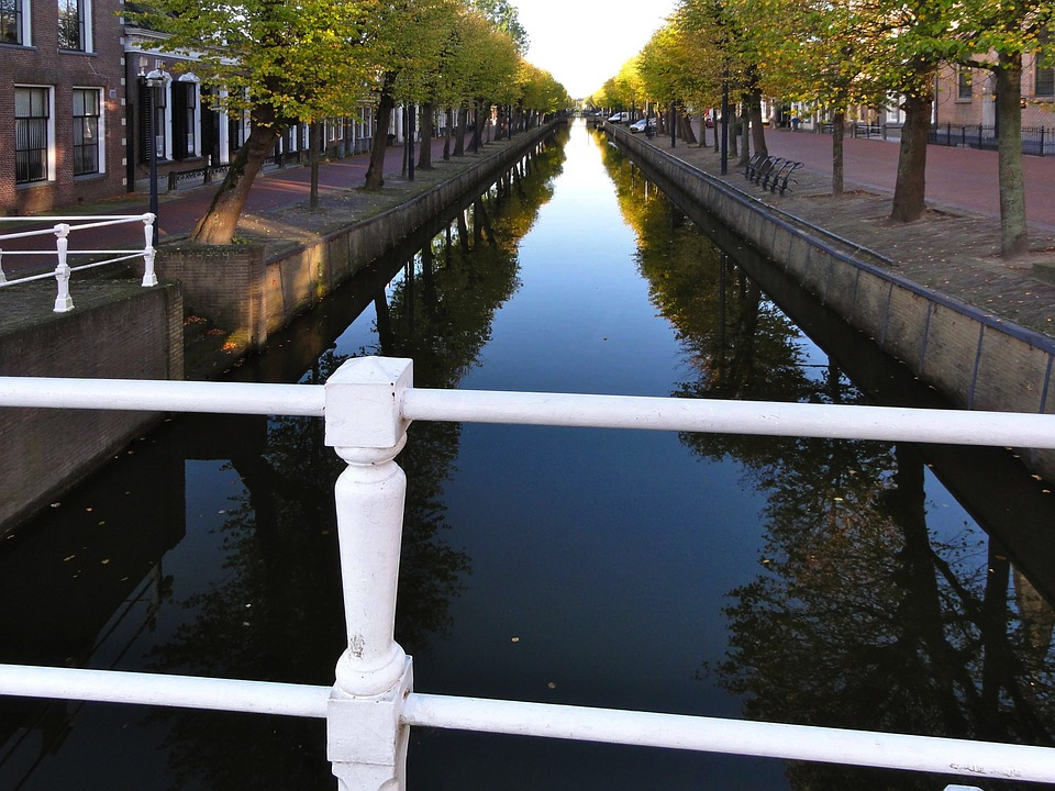 Netherlands, Canal, Waterway, Water, Reflections
