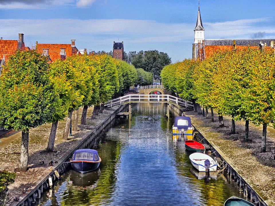 Sloten, Netherlands, Canal, Waterway, Boats, Water