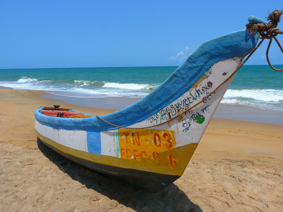 Beach, Boat, Colorful, Sea, Water, Wave