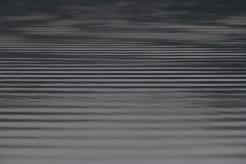 Water, Ripple, Waves, Lake, Nature, Black And White
