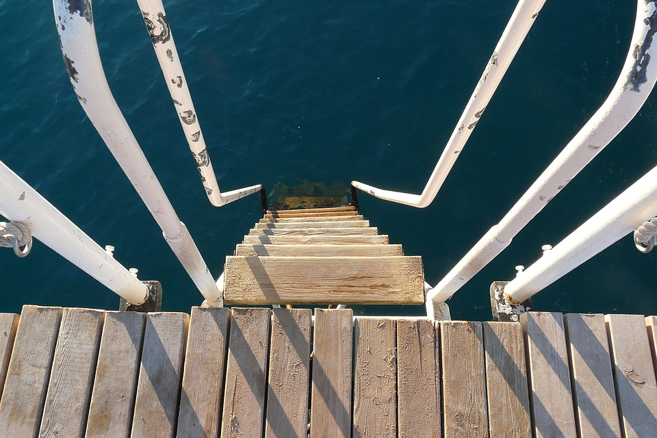 Jetty, Stairs, Head, Entry, Web, Boardwalk, Water