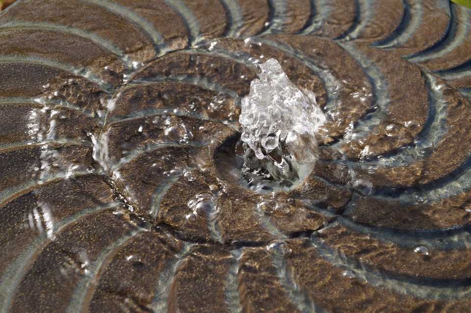 Fountain, Water, Stone, Water Feature, Bubble, Wet