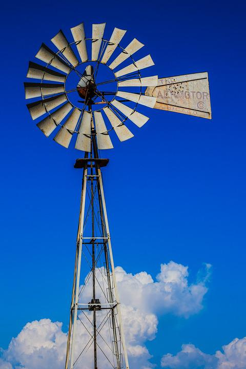 Windmill, Farm, Wind, Water, Countryside, Rural