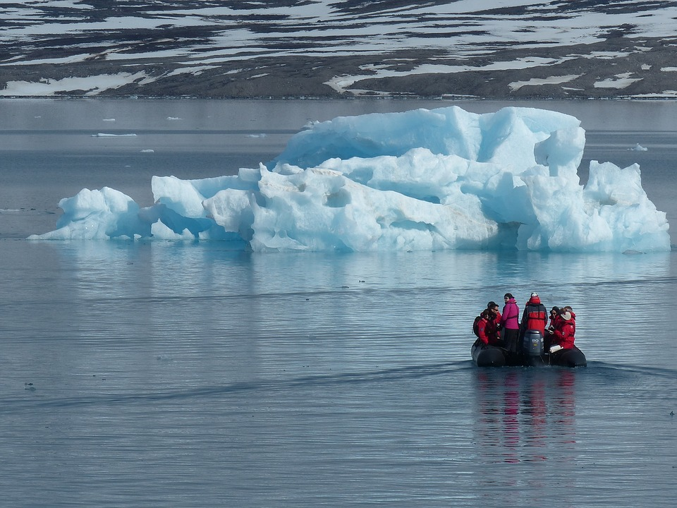 Arctic, Ice Floes, Cold, Zodiac, Expedition, Water