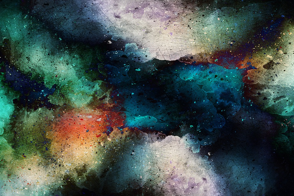 Background, Art, Abstract, Watercolor, Vintage, Galaxy