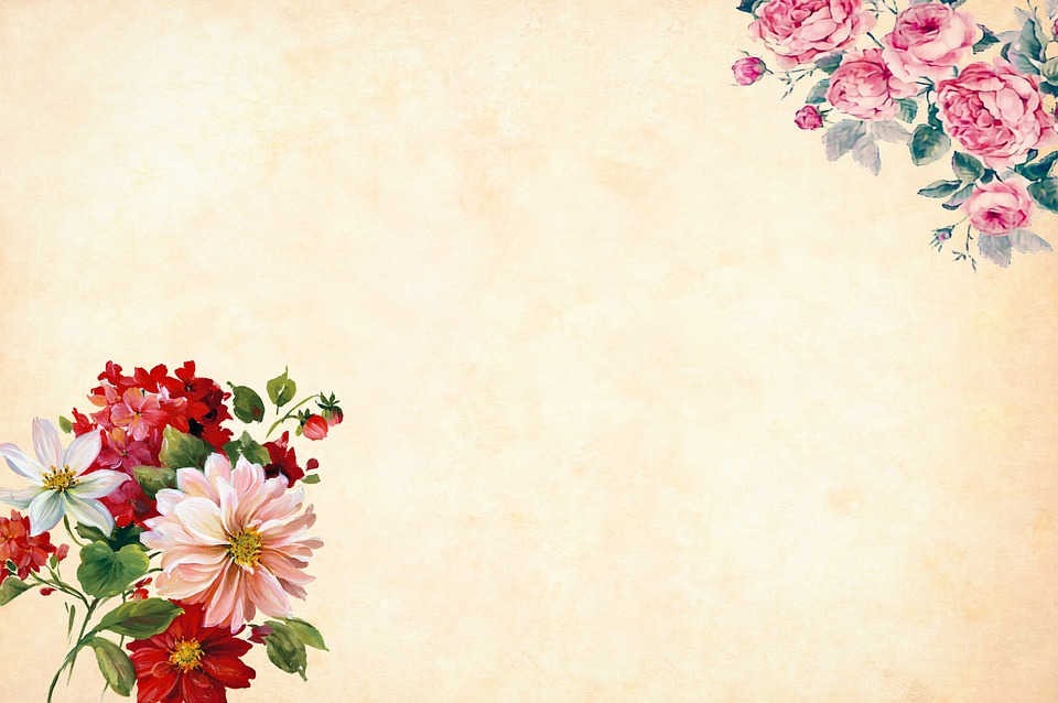 Flower Background Watercolor Floral Border