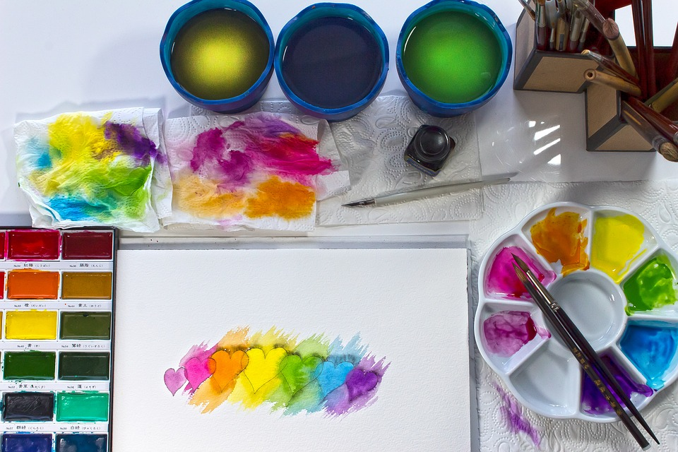 Paper, Watercolor, Watercolour, Brush, Love, Romance