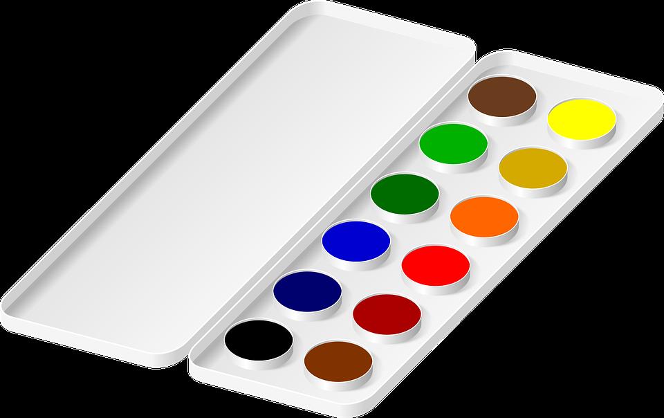 Watercolors, Colors, Painting, Black, Blue, Green