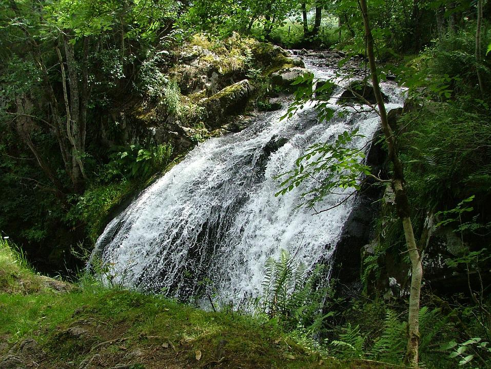 Auvergne, Waterfall, Water, River, Cascade, Nature