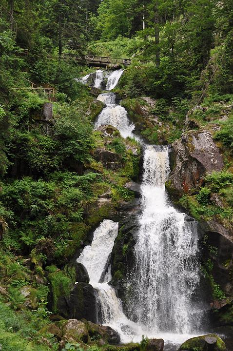 Waterfall, Water, Triberg, Black Forest