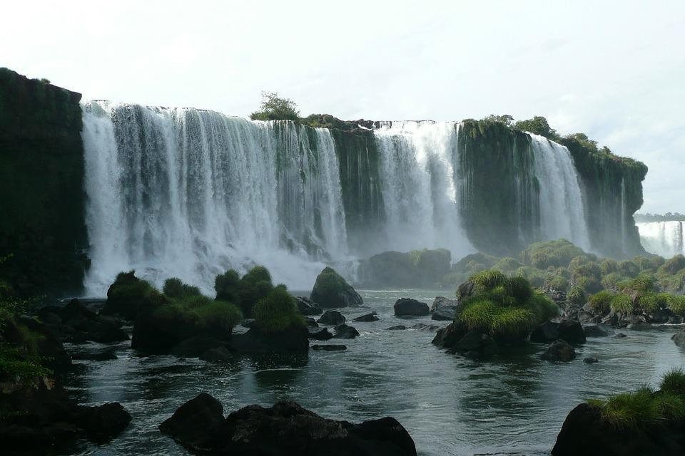 Waterfall, Brazil, Iguaçu, Iguazú Waterfalls