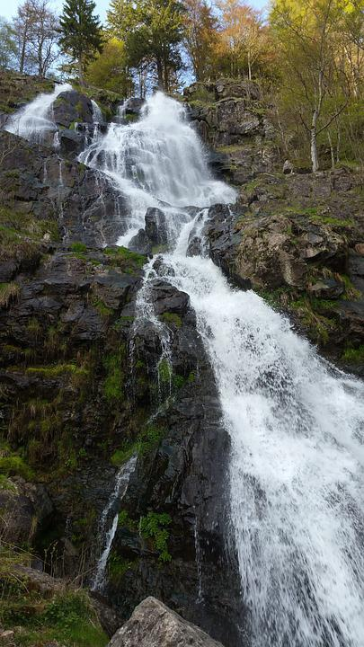 Waterfall, Cascade, Todnau, Germany, Environment