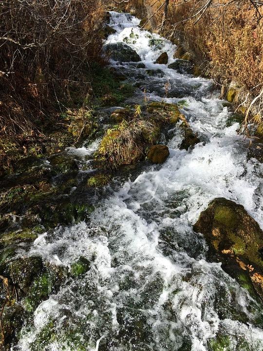 Waterfall, Utah, Landscape, Water, Rock, Cascade, Fall