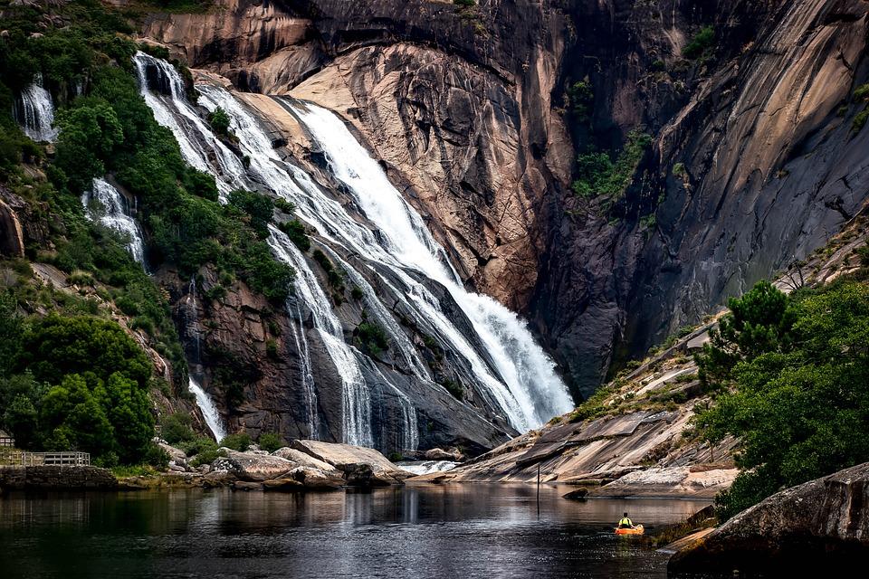 Fervenza Do Xallas, Spain, Waterfall, Nature, Landscape