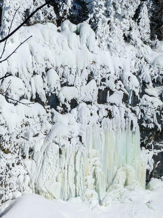 Ice, Waterfall, Frozen, Winter, Landscape, Rocky Wall