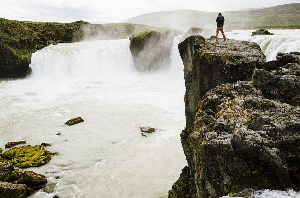 Iceland, Waterfall, Rocks, Cliff, Rough, Hiking, Nature