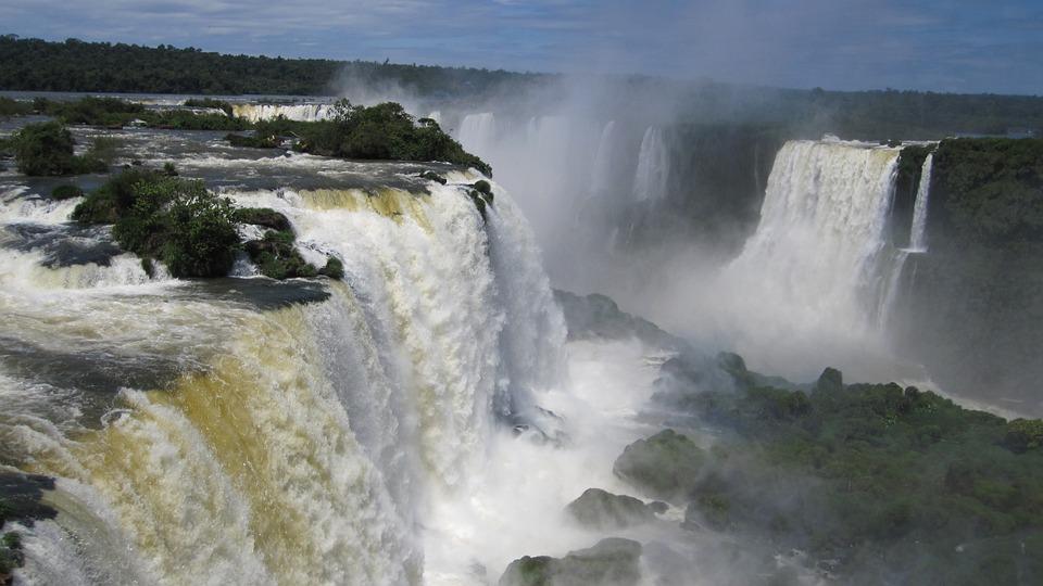 Iguazú Waterfalls, Waterfall, Water Wall, Iguazu, Water