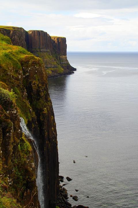 Kilt Skirt, Waterfall, Isle Of Skye, Scotland, Water