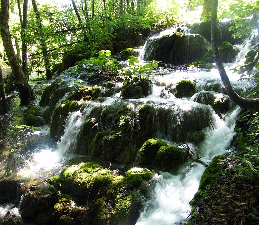 Waterfall, Croatia, Plittvice, Lakes, Magic