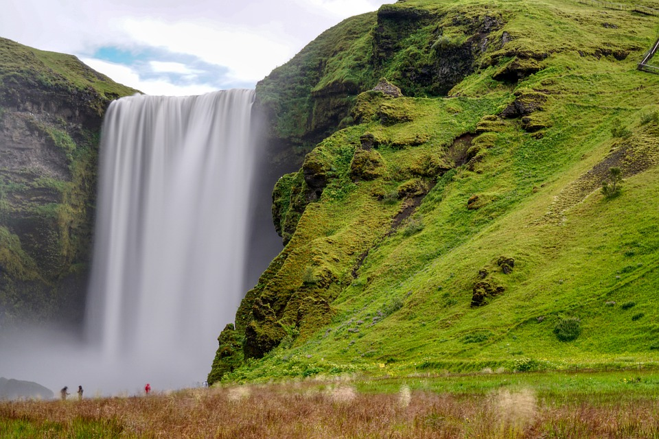 Waterfall, Mountain, Nature, Iceland, Landscape, Water