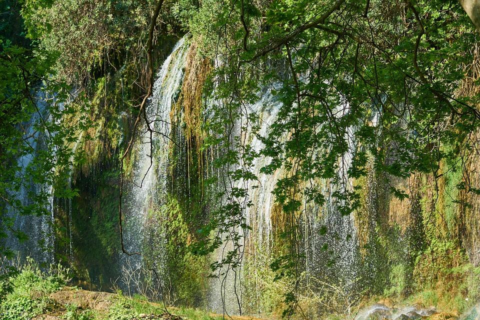 Nature, Waterfall, Rocks, Green, Beautiful, Water