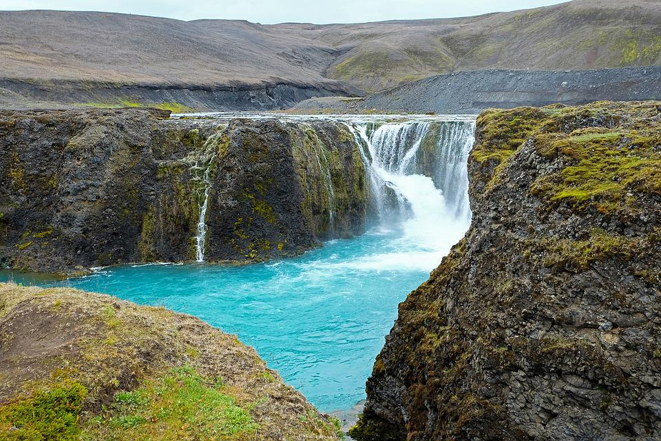 Iceland, Waterfall, Water, Landscape, Nature