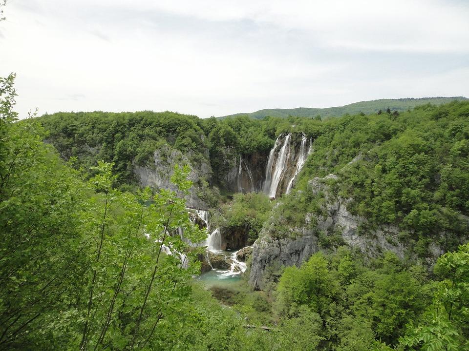 Croatia, Plitvice, Waterfall, Nature