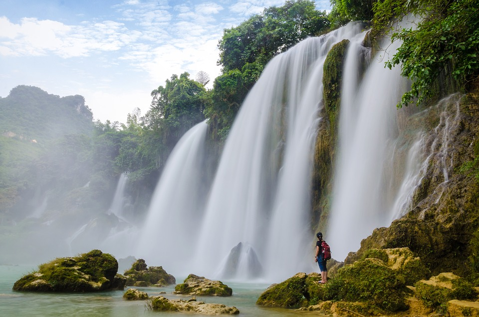 Water, Falls, Nature, Waterfall, Ban Gioc Waterfall