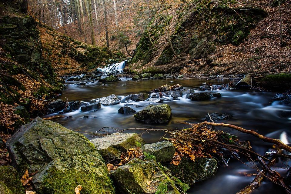 Water, Photo, Long Exposure, Filter, Waterfall, Stones