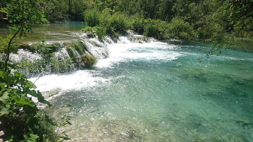 Waterfall, Landscape, Plitvice, Vacation