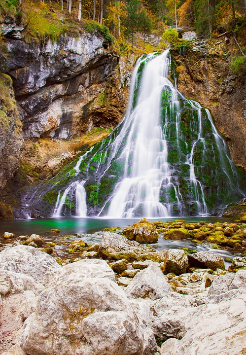 Waterfall, Golling, Salzburg, Salzburgerland