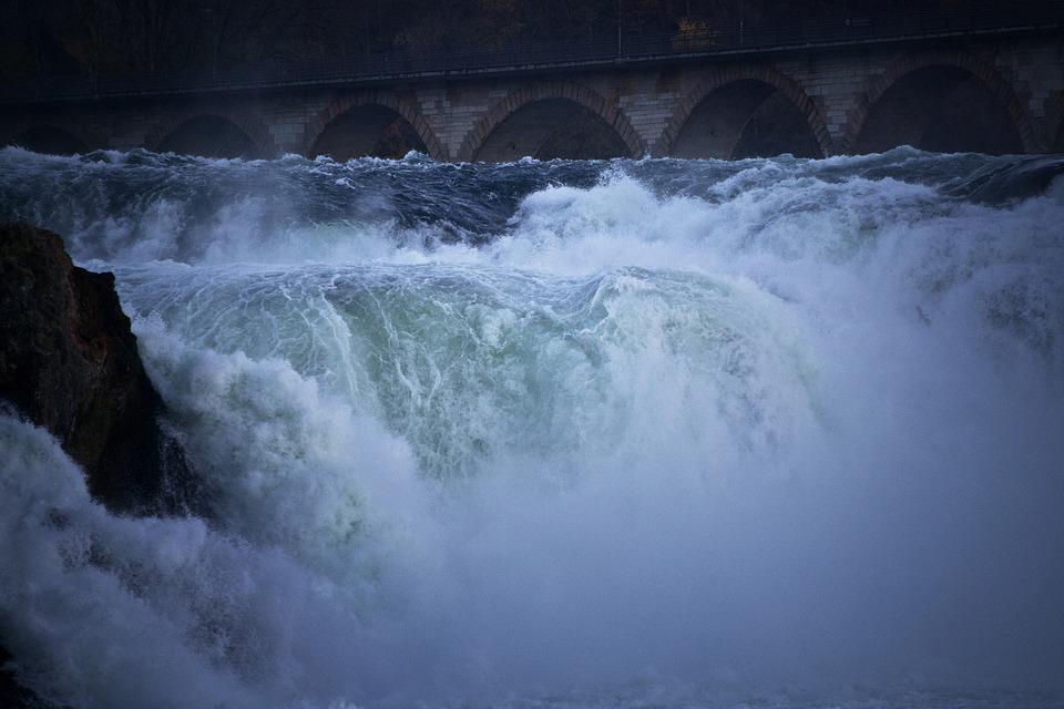 Waterfall, Rhine Falls, Schaffhausen, Switzerland, Wild