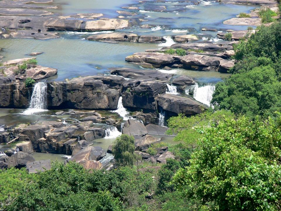 Waterfall, Umgeni River, Veldt, River Valley, Landscape