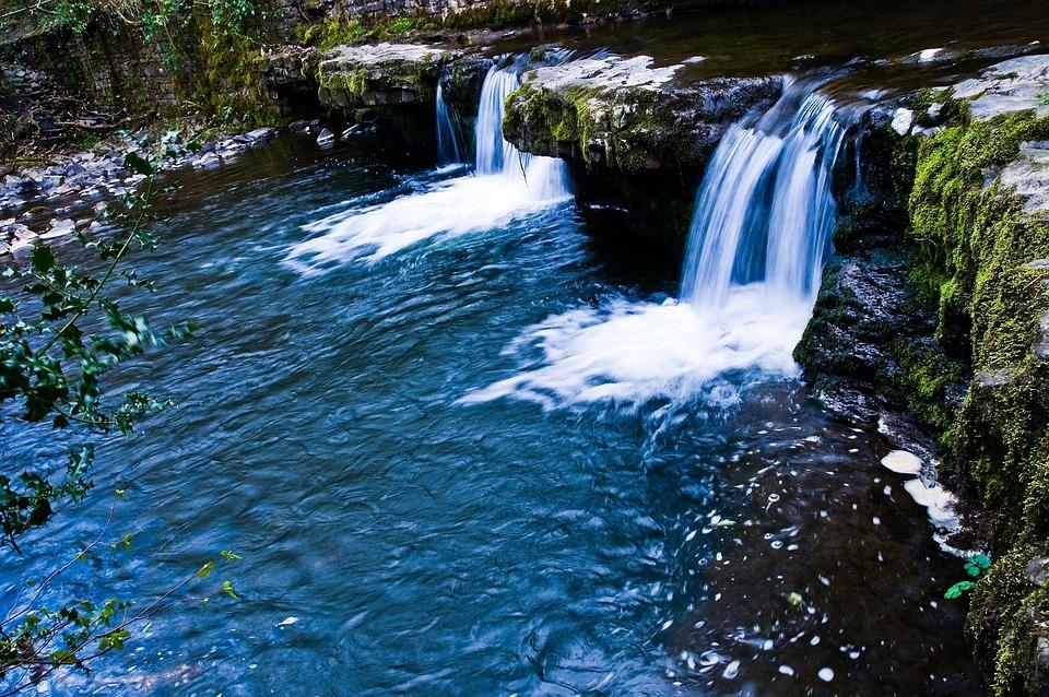 Waterfall, Natural Pool, Wales, Beacons, Brecon, Uk