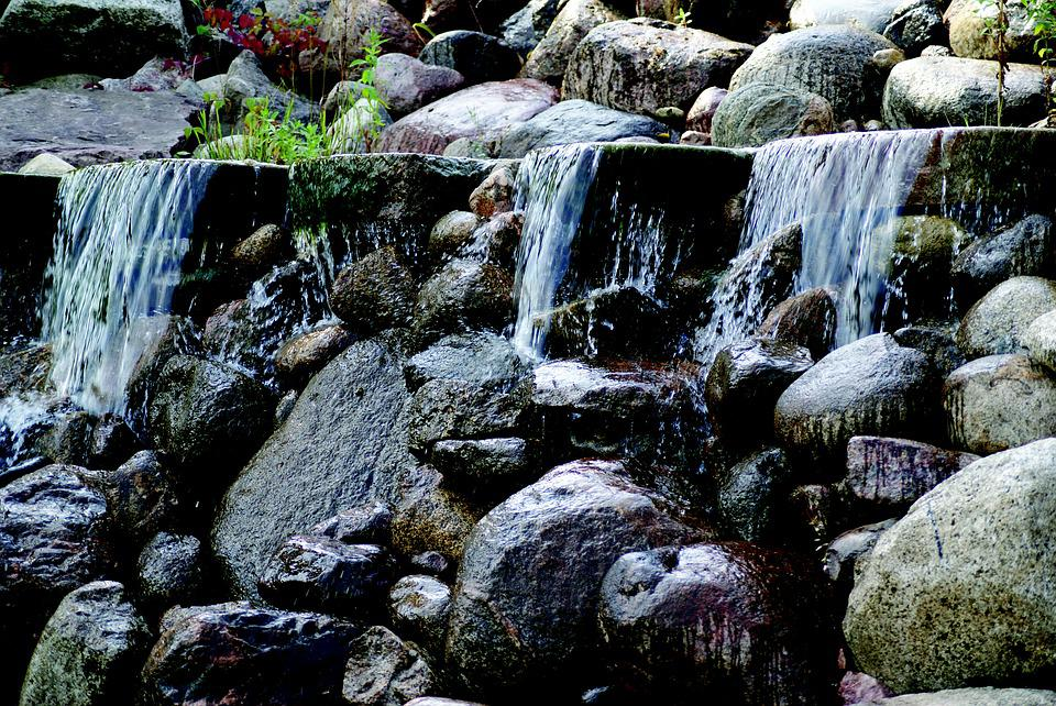 Waterfall, The Stones, Water, Brook, Landscape