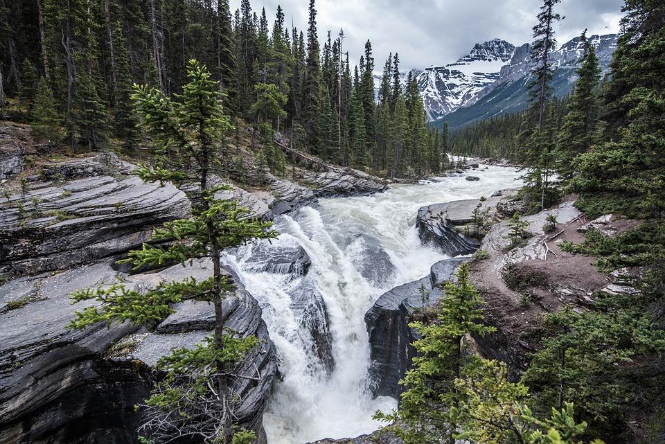 Waterfall, Canada, Landscape, Scenic, Water