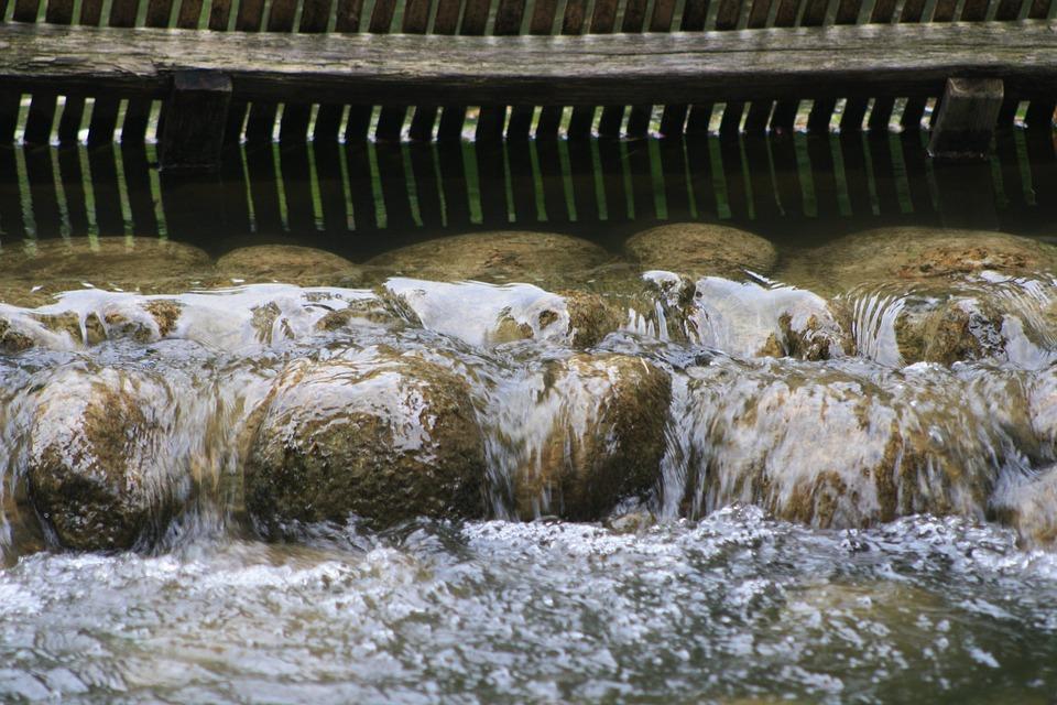 Cascade, Water, Waterfall, River, Zen, Pebble