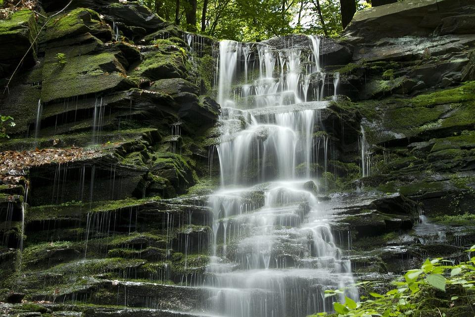 Waterfall, Cascade, Water, Stream, Natural, Rock