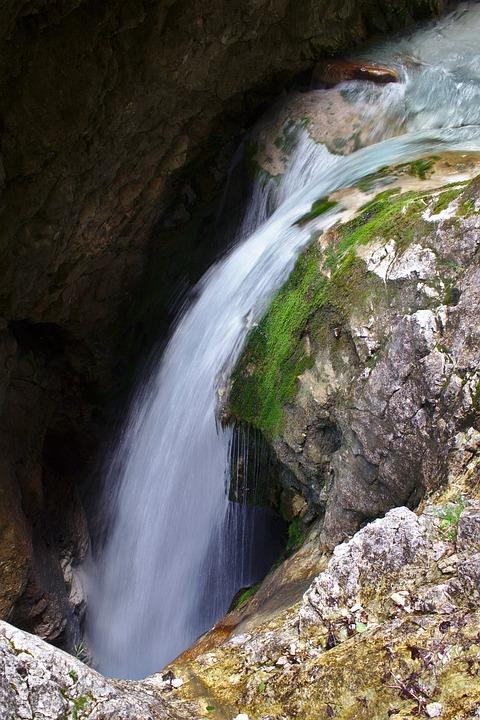 Waterfall, Murmur, Flow, Rock, Nature, Wet, Water, Bach