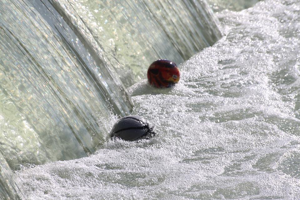 Balloons, Dam, Whirlpool, Waterfall, Water Courses